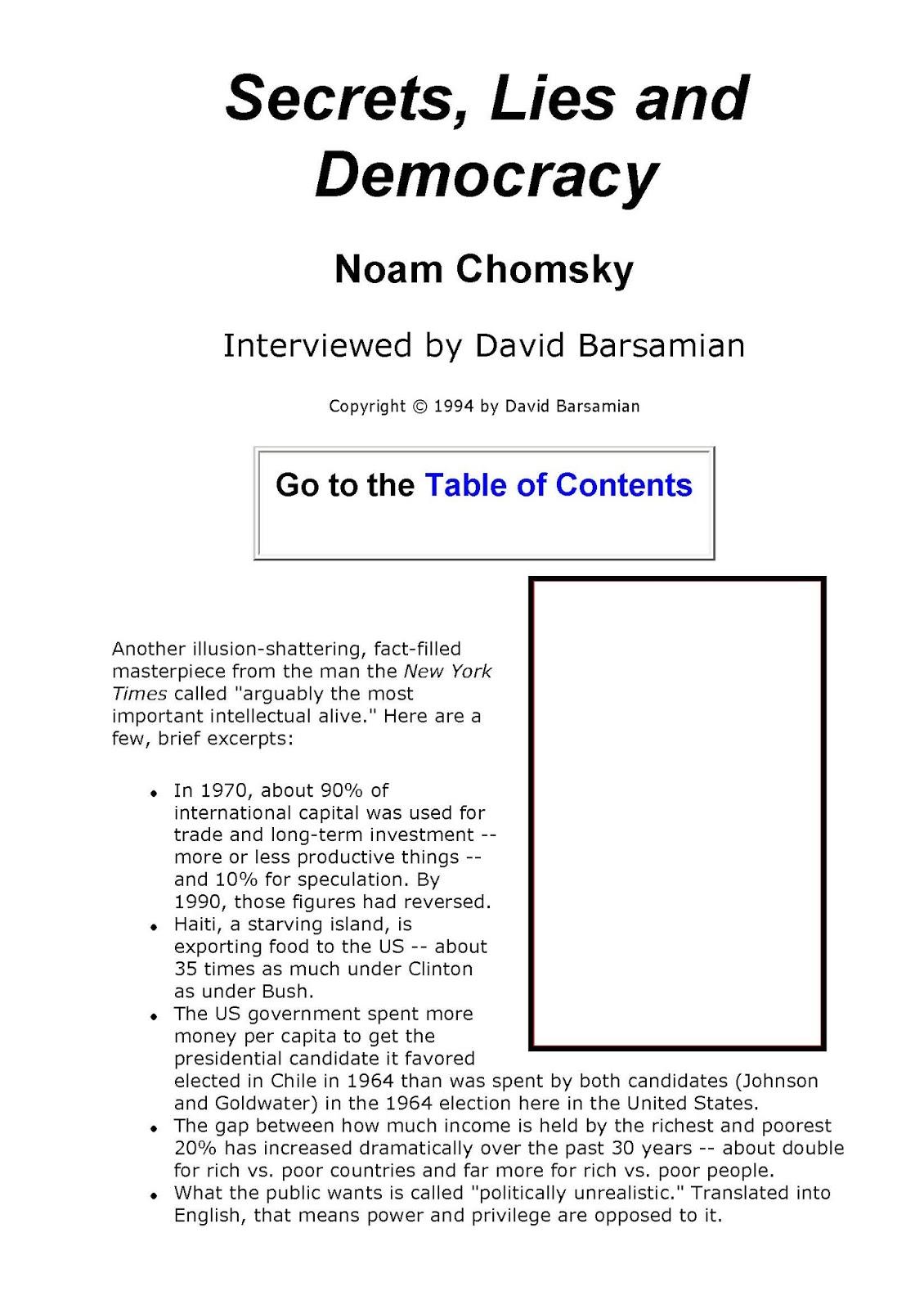 58f5f pages2bde2bsecrets2c2blies2band2bdemocracy - Secrets, Lies and Democracy PDF- Noam Chomsky