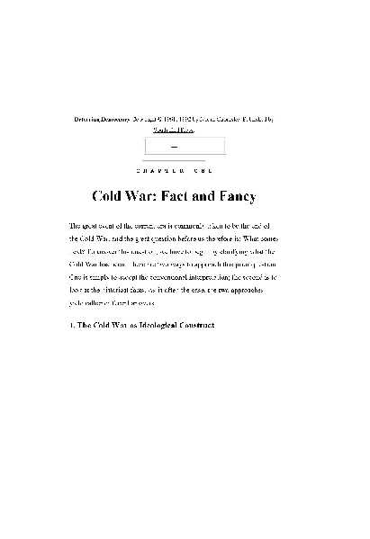 c8640 pages2bde2bdeterring2bdemocracy - Cold War:Fact and Fancy PDF - Noam Chomsky